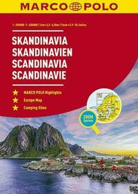 MARCO POLO ReiseAtlas Skandinavien 1:250 000 / 1:650 000 mit Europa 1:4 500 000