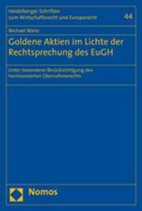 Goldene Aktien im Lichte der Rechtsprechung des EuGH
