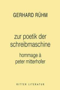 poetik der schreibmaschine