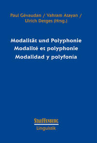 Modalität und Polyphonie Modalité et polyphonie Modalidad y polyfonía