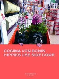 Cosima von Bonin. Hippies Use Side Door. The Year 2014 has lost the plot