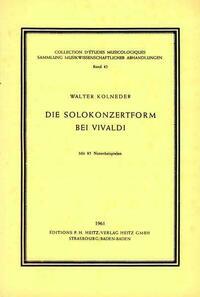 Die Solokonzertform bei Vivaldi