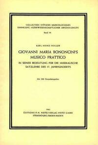 Giovanni Maria Bononcini's Musico Prattico in seiner Bedeutung für die musikalische Satzlehre des 17. Jahrhunderts.