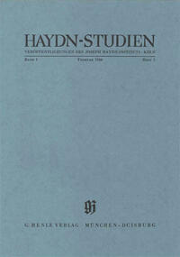 Haydn Studien. Veröffentlichungen des Joseph Haydn-Instituts Köln. Band I, Heft 2, Februar 1966