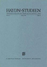 Haydn Studien. Veröffentlichungen des Joseph Haydn-Instituts Köln. Band I, Heft 4, April 1967