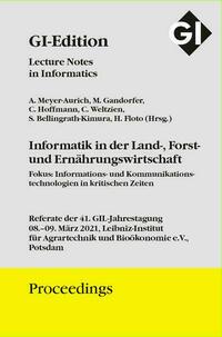 GI Edition Proceedings Band 309 Informatik in der Land-, Forst- und Ernährungswirtschaft