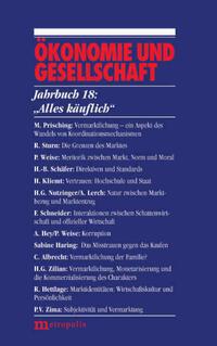 Ökonomie und Gesellschaft / Alles käuflich