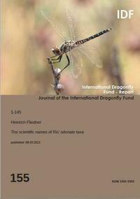 The scientific names of Ris' odonate taxa