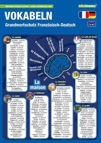 mindmemo Lernfolder - Grundwortschatz Französisch / Deutsch - 1100 Vokabeln lernen leicht gemacht