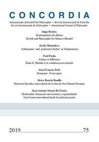 Concordia - Internationale Zeitschrift für Philosophie Heft 75
