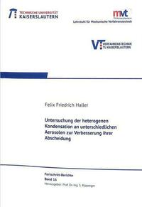 Untersuchung der heterogenene Kondensation an...
