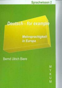 Deutsch - for example