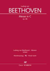 Messe in C (Klavierauszug XL)