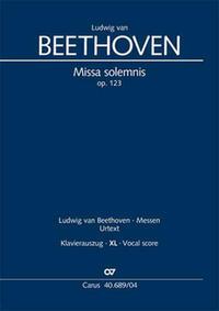Missa solemnis (Klavierauszug XL)