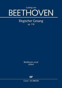Elegischer Gesang (Klavierauszug)