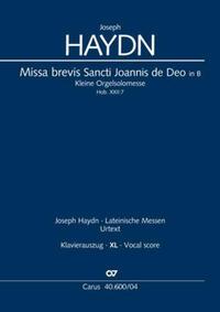 Missa brevis Sancti Joannis de Deo (Klavierauszug XL)