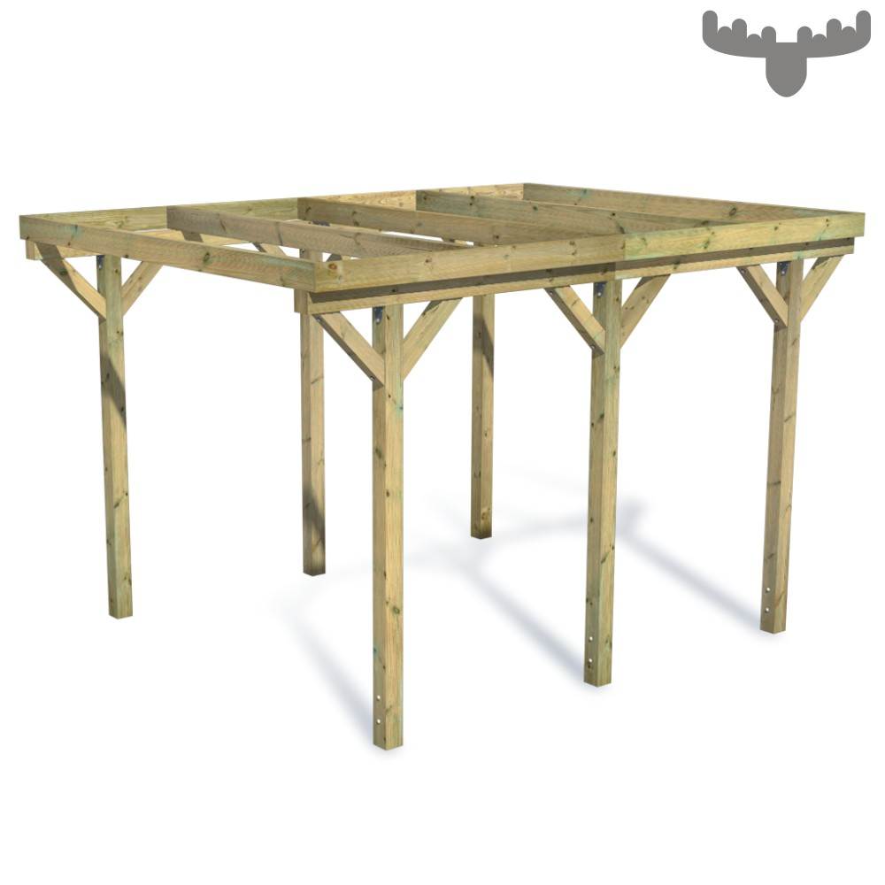 fatmoose casacarport carport einzelcarport flachdach berdachung unterstand holz ebay. Black Bedroom Furniture Sets. Home Design Ideas