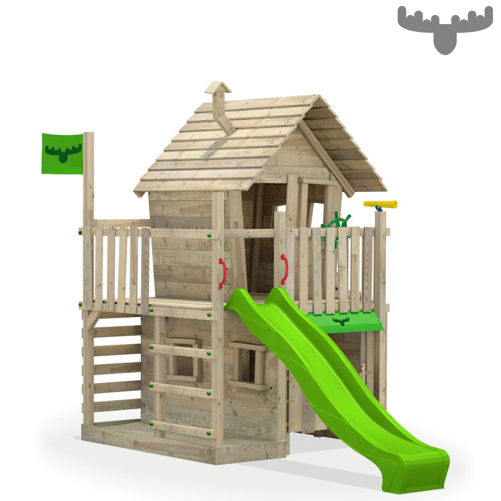 fatmoose countrycow maxi xxl aire de jeux maison sur pilotis balan oire toboggan ebay. Black Bedroom Furniture Sets. Home Design Ideas