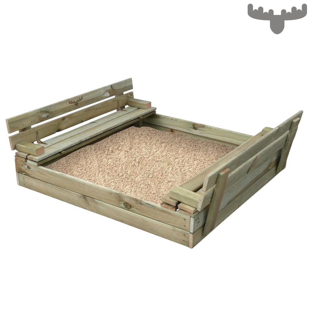 Fatmoose sandseat sandkasten mit klappdeckel sandkiste mit - Bac a sable avec banc ...