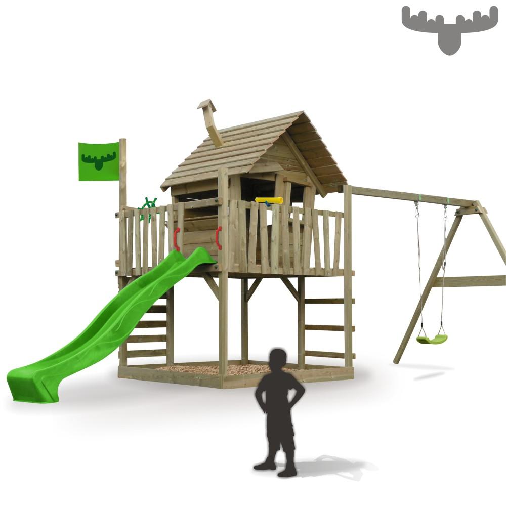 fatmoose wackyworld mega xxl aire de jeux maison sur pilotis balan oire toboggan ebay. Black Bedroom Furniture Sets. Home Design Ideas