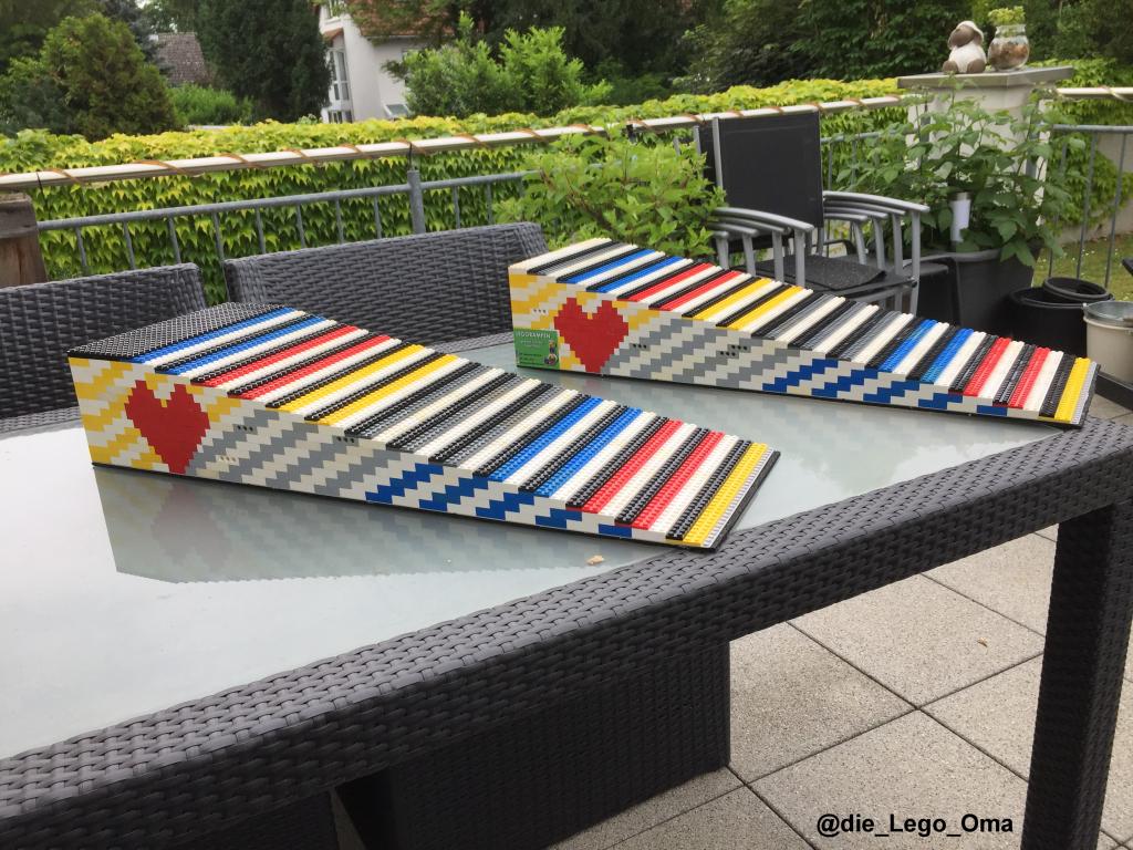 Zweispurige Legorampe für Rollstühle