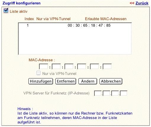 MAC-Filter