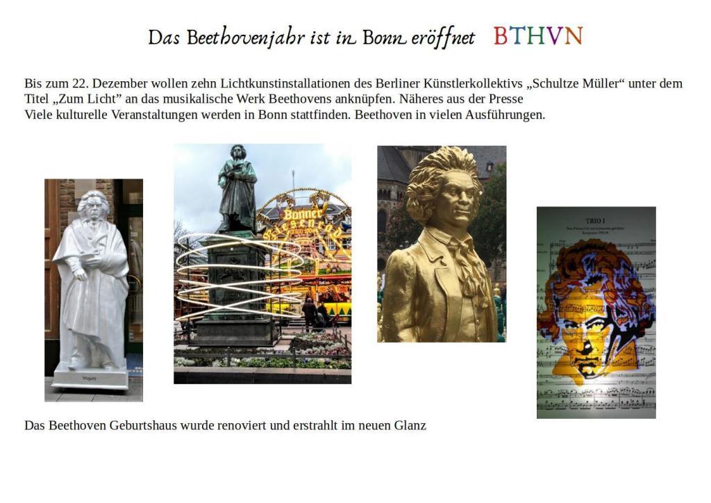 Das Beethovenjahr ist eröffnet
