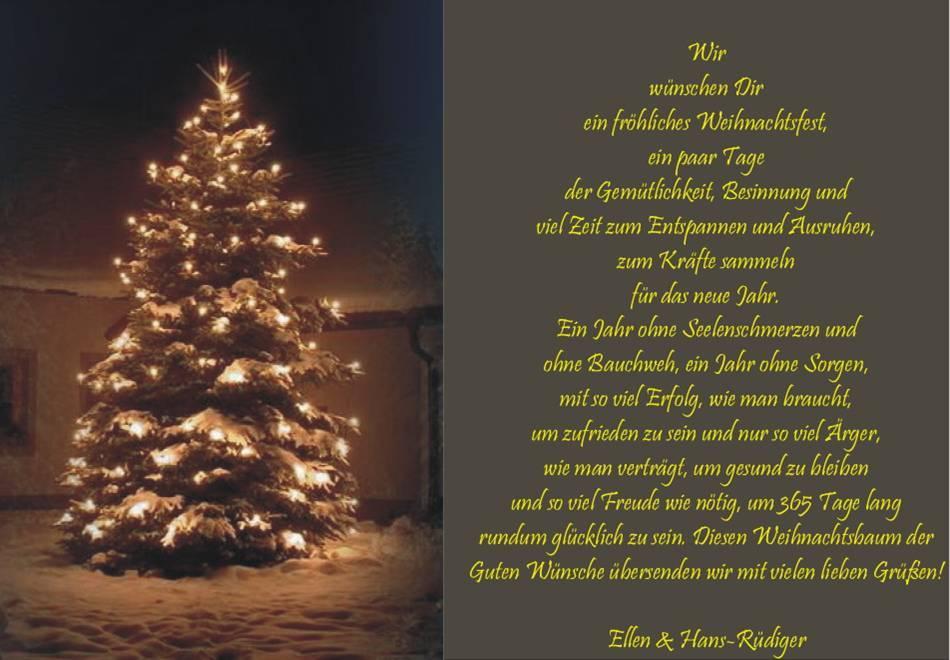 Weihnachtsbaum Der Guten Wünsche.11 Weihnachtsfeier Fuchskaute 2016