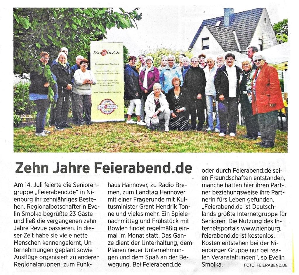 10 Jahre Nienburger Feierbend