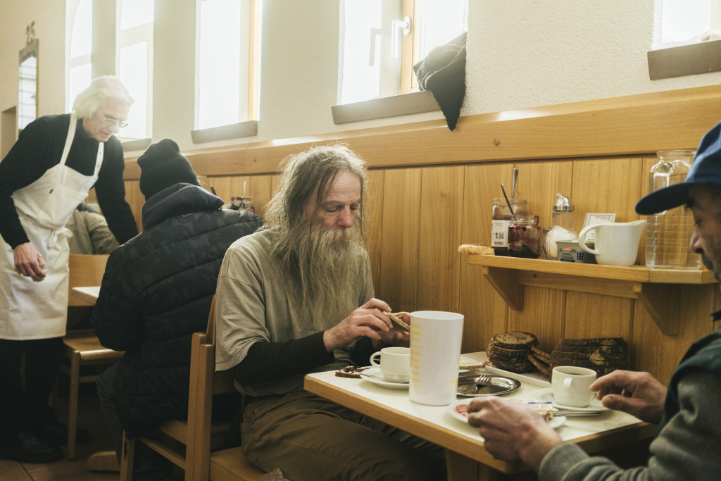 Obdachloser Gast im Franziskustreff