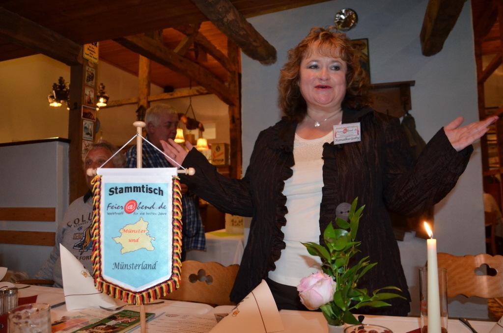 Gaby Jung beim Botschaftertreffen in Coesfeld 2014