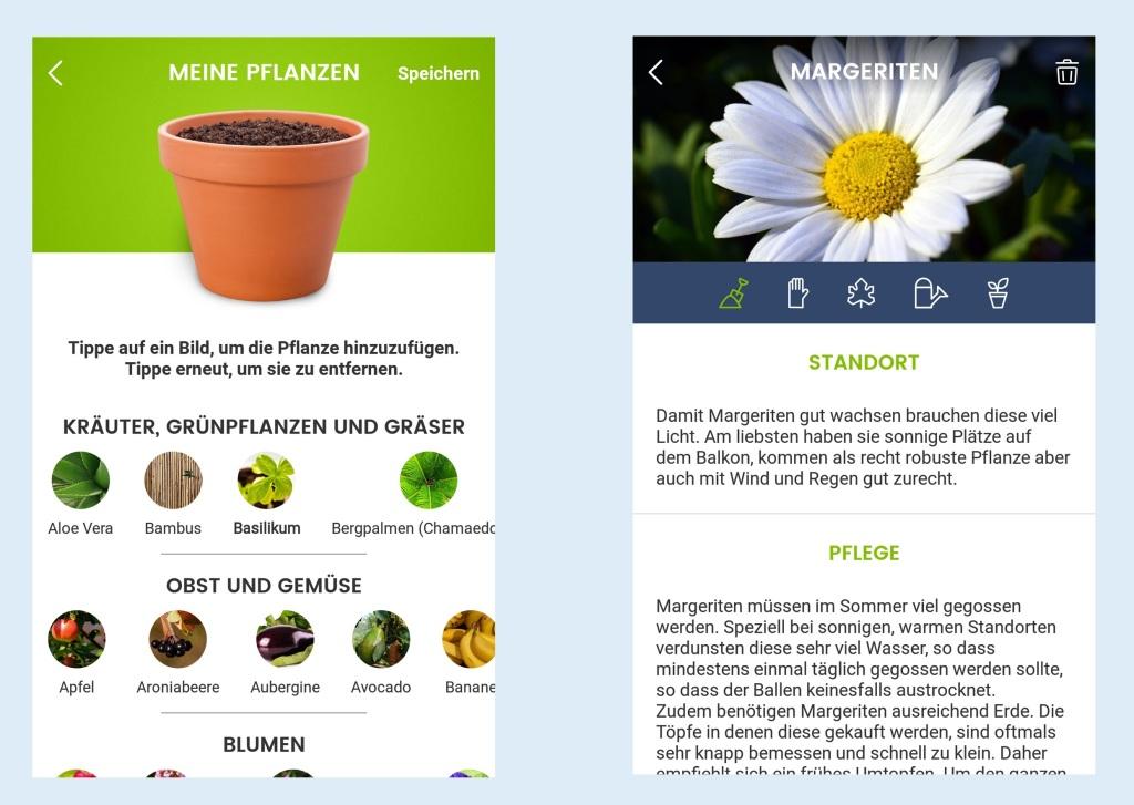 Screenshots der App Green Balcony