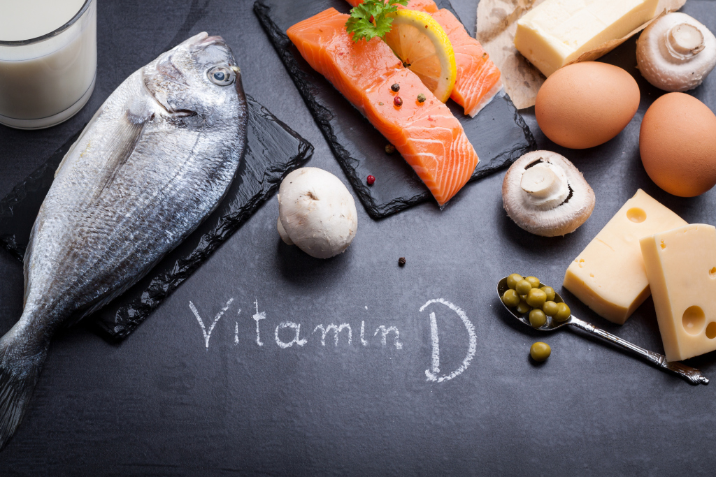 Stilbild Lebensmittel mit Vitamin D