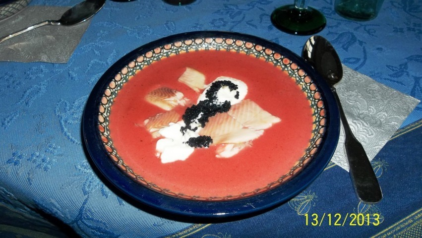 zunächst gab es aber eine herrliche Rote Beete Suppe