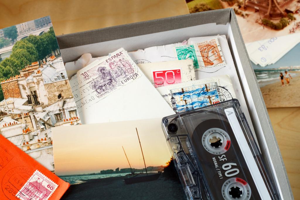 Kiste mit Erinnerungen