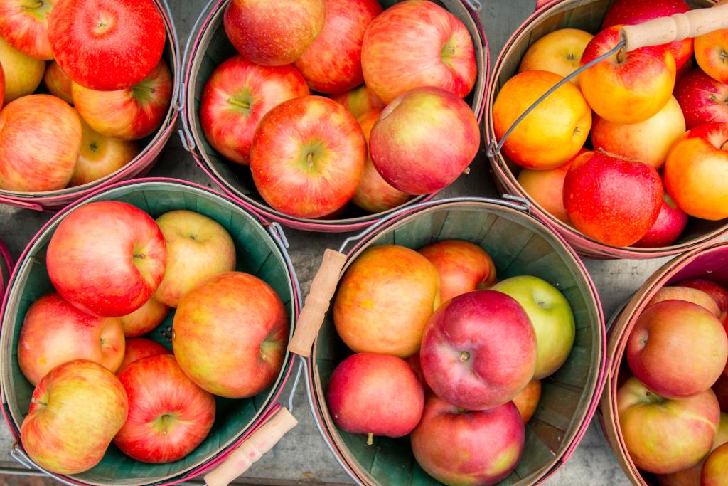Äpfel in Eimern