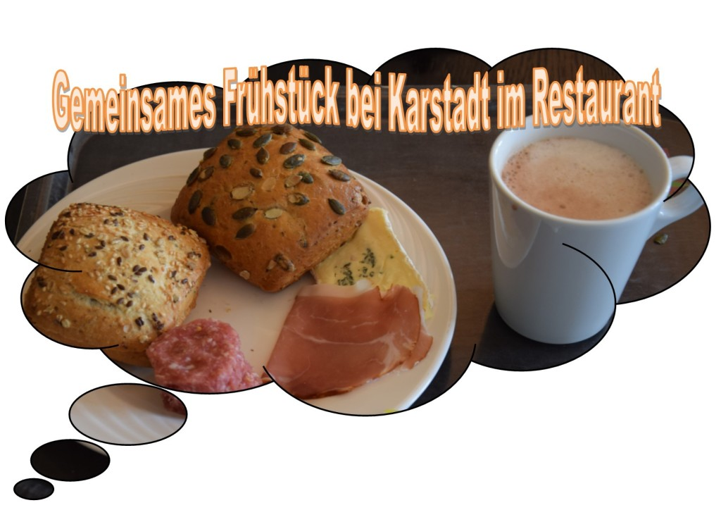 Gemeinsames Frühstück bei Karstadt im Restaurant