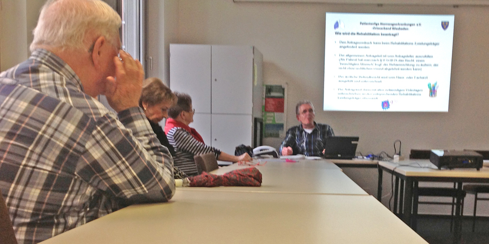 Jürgen Frischmann bei einem Vortrag zu COPD