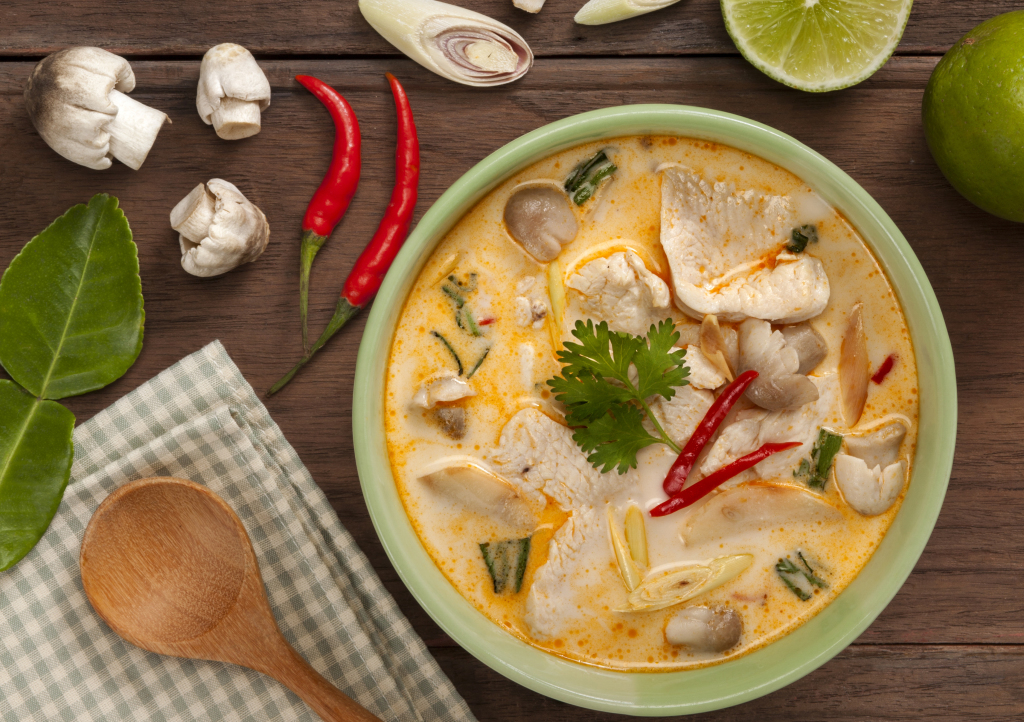 Thailändische Hühnersuppe