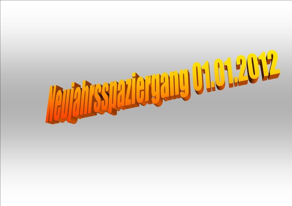 Neujahrsspaziergang 01.01.2012