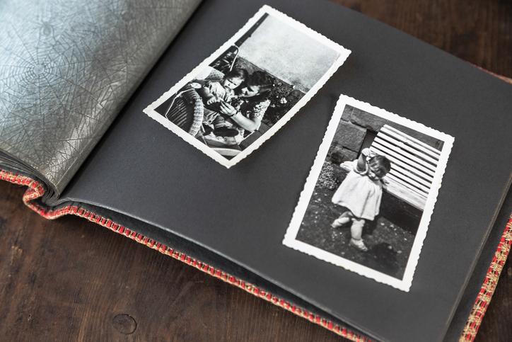 Fotos in einem Album