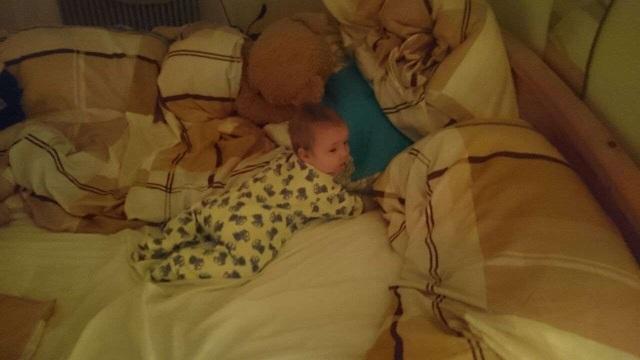 Zoey im Bett
