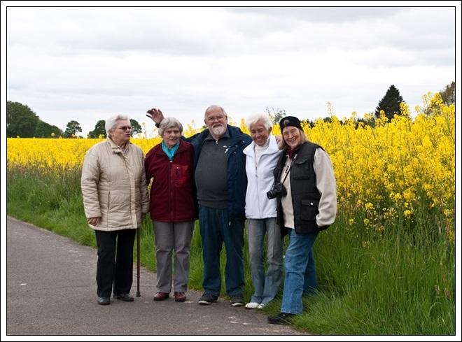 Rita, Ursel, Volkhart, Uschi und Ingrid