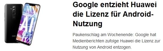 google + Huawei