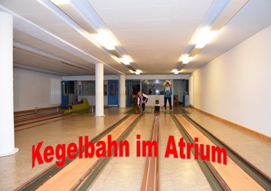 Kegelbahn im Atrium