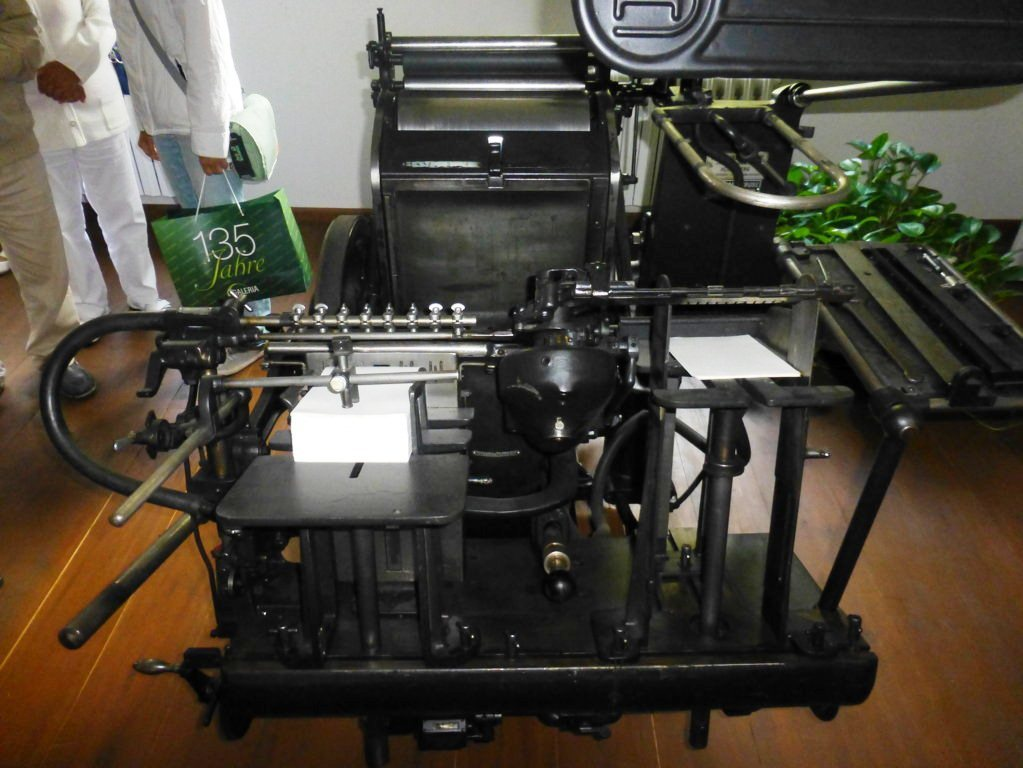 eine alte Druckmaschine
