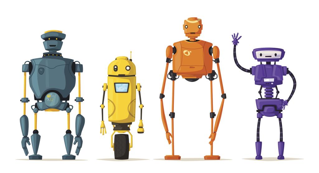 verschiedene Roboter