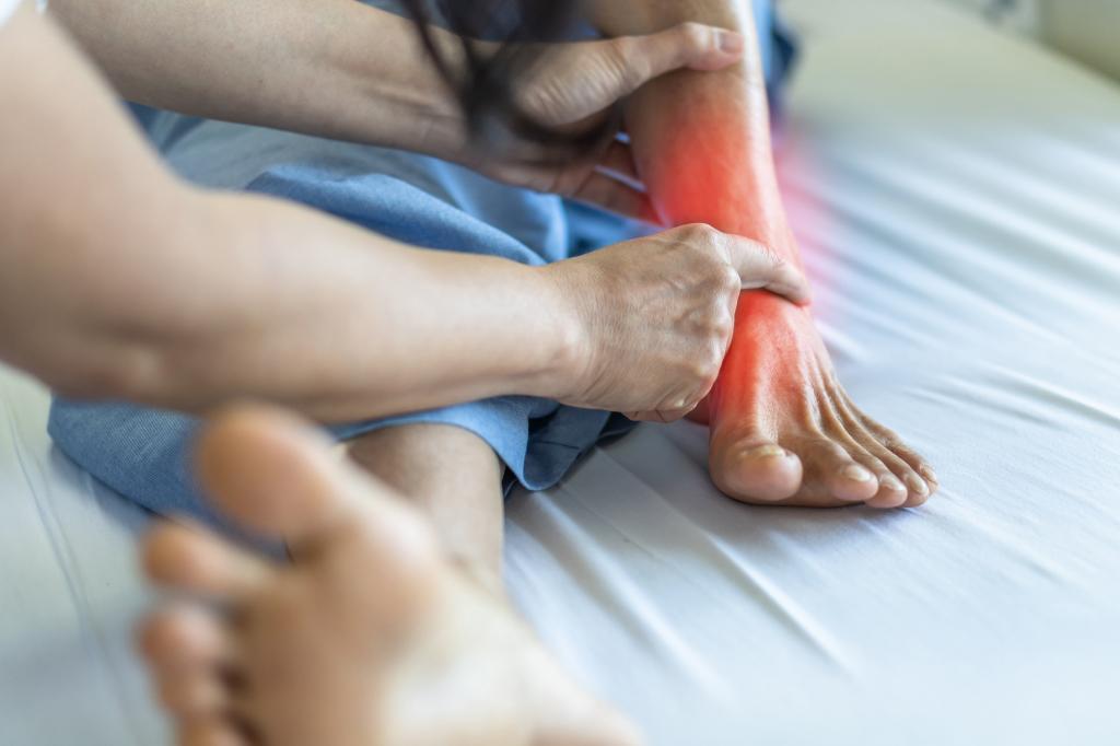 Gelenkschmerzen im Knöchel