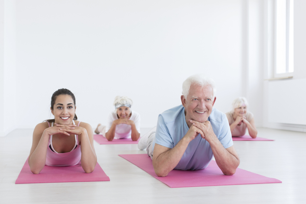 Lach-Yoga Gruppe
