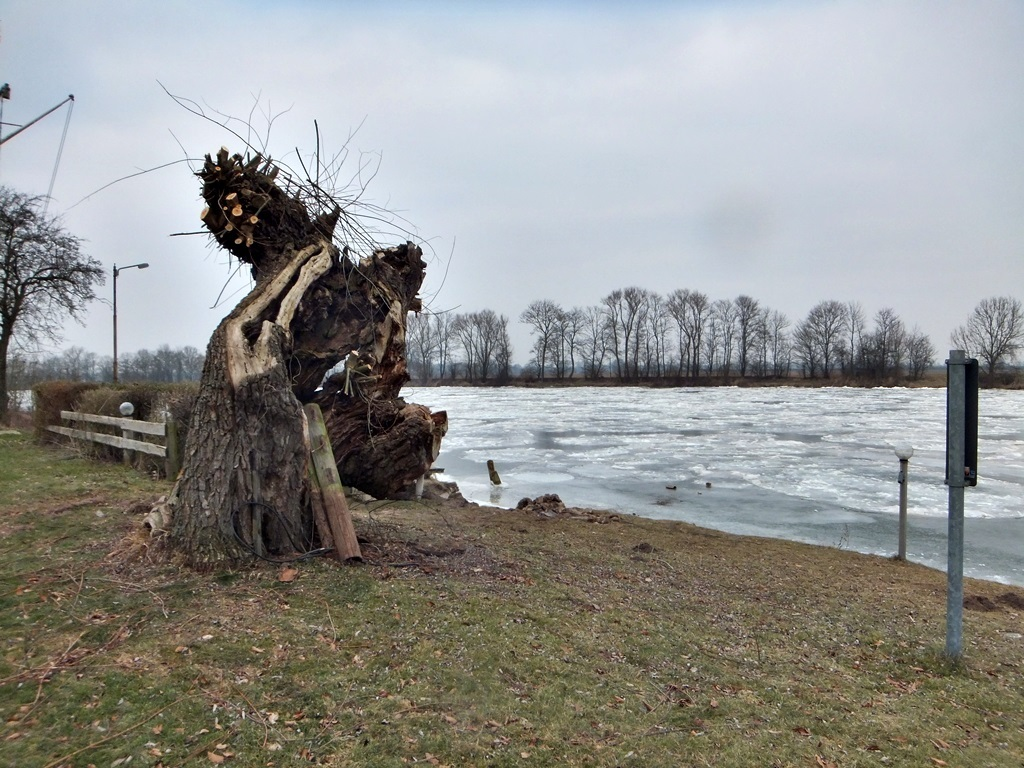 Weser im Winter